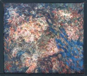 KS 519 1908 Lippstadt 1978 Abstraktion I Malerei, Öl auf Hartfaser um 1955 0x0 63x70 Abstraktion,