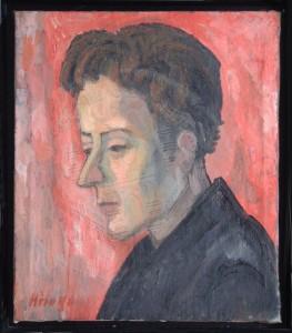 Höings , Friedrich KS 522 1908 Lippstadt 1978 Selbstbildnis Malerei, Öl auf Leinwand um 1933 0x0 33x28,5 Selbstbildnis Höings, Figur