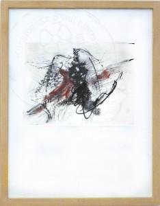Kirchner , Barbara KS 574 1938 Braunschweig - Lippstadt - Freiburg (Stud Akad)- München virulent I Grafik, Kohle und Rötel 2006 29x18 52,5x42,5 , auf dünnstem Seidenjapanpapier Abstraktion, Zeichnung, Kohle