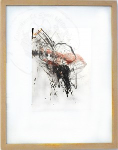 Kirchner , Barbara KS 575 1938 Braunschweig - Lippstadt - Freiburg (Stud Akad)- München virulent II Grafik, Kohle und Rötel 2006 21x28 52,5x42,5 , auf dünnstem Seidenjapanpapier Abstraktion, Zeichnung, Kohle