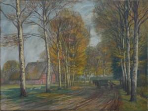 Miesler , Ernst KS 572 1879 Lippstadt - 1948 Hösel Bei Waldliesborn im Herbst Malerei, Öl auf Leinwand o.J 60x80 60x80 Lippstadt, Waldliesborn