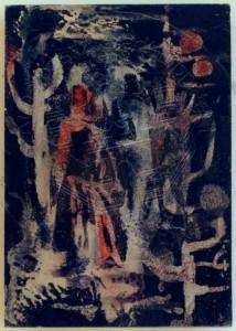 Mix , Meinrad KS 231 13.1.1913 Domslaff/Kreis Schochau 1965-70 LP-Overhagen - Malente o.T. Grafik, Gouache 1968 25x17,6 38x30 Abstraktion, Darst.25x17,6cm