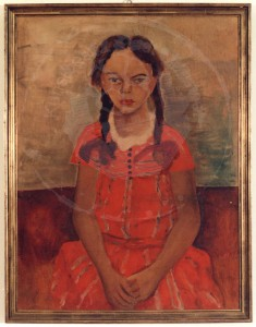 Overhoff , Eduard KS 10 1905 Lippstadt - 1945 Berlin Portrait der Nichte Angelika Malerei Lippstadt 1930, R.s.1930 68x52,5 73x65,5 Portrait der Nichte Angelika