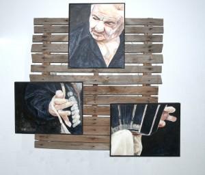 KS 567 Ralf Saadhoff Studium der Architektur Ingenieur-Akademie Berlin ohne Titel Malerei o.J. 0x0 115x120 Bildniskopf eines Bandoneon-Spielers, Portrait eines Musikers Figur