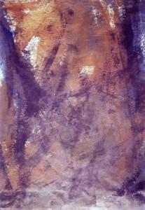 KS 317 Petra Schütte 1964 Lippstadt, Studium Paderborn, Münster, Frankfurt, Mecklenburg-vorpommern, Berlin? o.T. Grafik 1993 52,8x36,6 71,5x51,5 blau-brauner Farbraum (essentielle Malerei), Darst. 52,8x36,6cm A