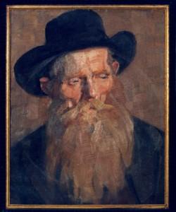 KS 61 Marie Steinbecker 1879 Lippstadt- 1968 Männerkopf Malerei Berlin um 1900-1905 47x37,5 62x52 Frontal-Brustbild eines bärtigen Greises, Figur