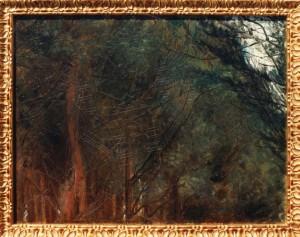 KS 426 Marie Steinbecker 1879 Lippstadt- Stud. Berlin, München, 1968 Studie von Bäumen in der Bellevue Malerei um 1905 x 42,5x55 Studie von Bäumen in der Bellevue, Lippstadt, Lippstadt
