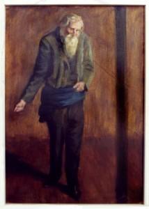 KS 437 Marie Steinbecker 1879 Lippstadt- Stud. Berlin, München, 1968 Säender Mann Malerei ca 1903 x 50,5x36 Säender Mann mit weißem Vollbart, Studie, Figur