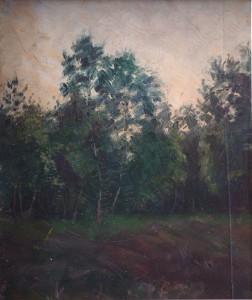 KS 470 Marie Steinbecker 1879 Lippstadt- Stud. Berlin, München, 1968 Waldstudie I Malerei um 1903 x 43x38,5 Waldstudie, Landschaft