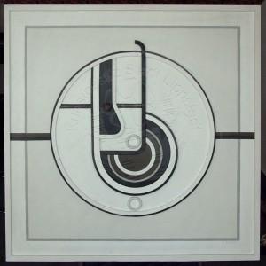 KS 94 Heinrich Trost 15.1.1930 Bockum Hövel - Lippstadt , x.3.2004 o.T. Relief Lippstadt 1986 90x90 92,5x92,5 Konstruktivistische Komposition, Abstraktion