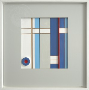 KS 562 Heinrich Trost 15.1.1930 Bockum Hövel - Lippstadt , x.3.2004 Sehspiele II Relief o.J. 0x0 65x65 Konstruktivistische Komposition, farbig gefasstes Relief Abstraktion