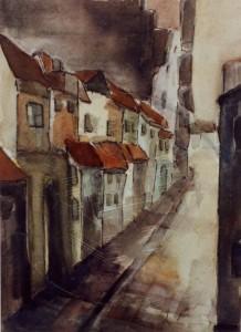Weddemann , Adolf KS 127 20.6.1943 Lippstadt Lüneburg Grafik 1964 47,8x35,9 80x60 Lüneburg