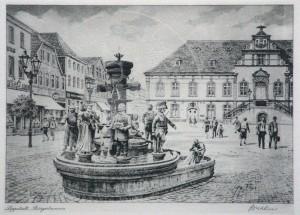 Wehlisch , Heinz KS 419 Berlin Lippstädter Bürgerbrunnen Grafik n.dat. x 30x36 Lippstädter Bürgerbrunnen, Lippstadt