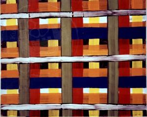 Merschmann , Ralph KS 327 1963 Lippstadt, Stud. Münster Akad., Köln o.T. Malerei, Acryl auf Karton 1993 25x31 30x40 konstruktiv-ornamental, Darst 25x31cm A