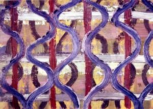 Merschmann , Ralph KS 330 1963 Lippstadt, Stud. Münster Akad., Köln o.T. Malerei, Öl auf Karton 1993 14,7x21 30x40 konstruktiv-ornamental, Darst 14,7x21cm A